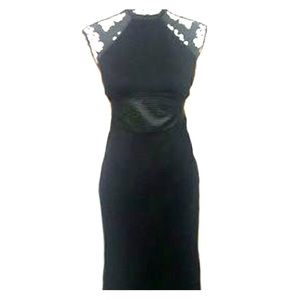 NWT Catherine Malandrino Black Halter Dress